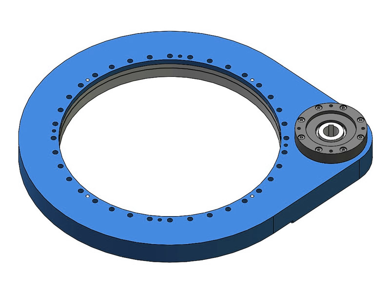 Spur gear slewing drive